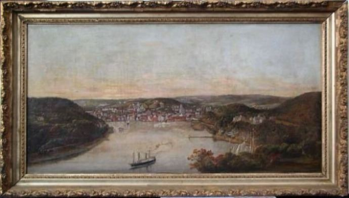 Norwich Harbor Painting Slater Memorial Museum