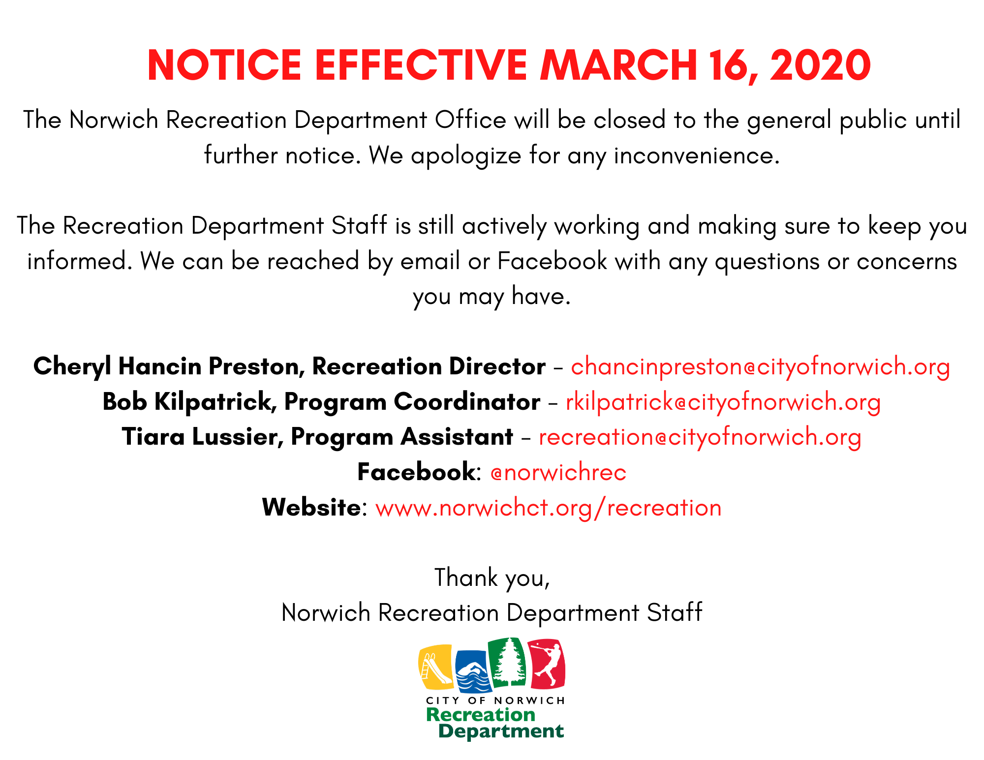 Copy of Notice Effective March 16, 2020